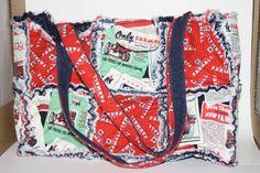 Rag Quilt Purse, Tote, Handbag, Diaper Bag, Top Handle Handbag, by Prinilla on Etsy