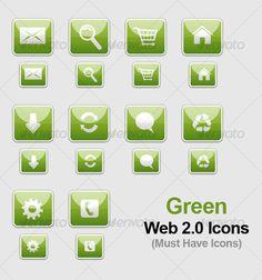 Green WEB 2.0 Icons
