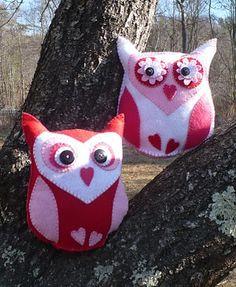 Owl Valentine. Aw, I want one!