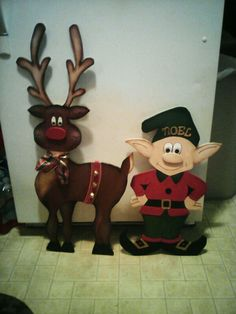 3D Wooden reindeer & elf by:Cutchall Creations