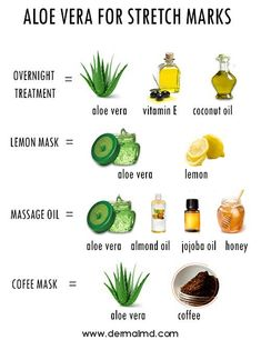 By combining aloe vera with the natural ingredients mentioned here you can easily remove all stretch marks naturally so follow them properly to have a stretch mark free body.