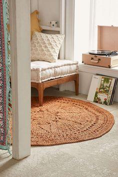 Plum & Bow Avila Crochet Jute Rug