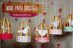 how to make paper lantern bird cage