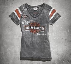 I just bought this shirt today.. so cute and comfy...Women's Genuine Oil Can Burnout Tee