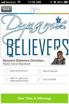 Dynamic Believers Christian Church in Milwaukee, Wisconsin #GivelifyChurches