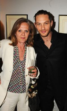 Tom Hardy with his mother Anna at the Cocktail Reception of The Nutcracker. They attended the English National Ballet 60th Anniversary summer party at the Dorchester, Park Lane, London. June 15, 2010.