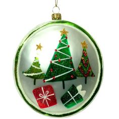 "RAZ Imports - Christmas Tree Glass Disc Ornament 4.5"" PerfectlyFestive http://www.amazon.com/dp/B009G6EKT6/ref=cm_sw_r_pi_dp_AhF-tb1XY2PGV"
