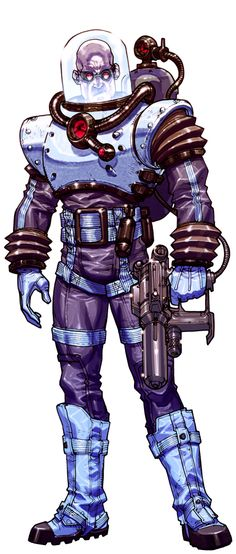 Arkham 'Mr. Freeze' bio-image by *Chuckdee on deviantART