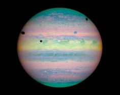 three black dots indicate eclipses on Jupiter