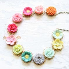 so pretty and dreamy ... by Nest Pretty Things!! - create your own #cernit polymer clay bracelet or necklace.