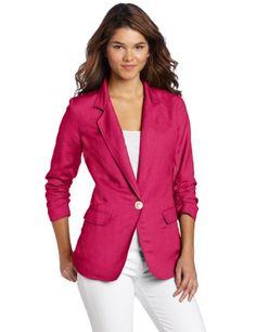 Karen Kane Women`s Shirred 3/4 Sleeve Blazer