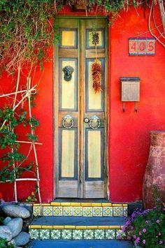 Items similar to Tucson Doorway Fine Art Photo Matted on Etsy Cool Doors, Unique Doors, Entrance Doors, Doorway, Doors Galore, Yellow Doors, Gates, Fine Art Photo, Painted Doors