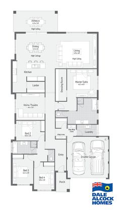 Home Designs Archive Dale Alcock Homes Pty Ltd BC 7309 House Plan – Master bed set up, put bed against WIR, ensuite, kitchen & butlers pantry layout. House Layout Plans, Best House Plans, Dream House Plans, Small House Plans, House Layouts, House Floor Plans, Home Design Floor Plans, Suites, New Home Designs