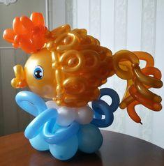 Birthday Party Balloons Bubble Guppies Ideas For 2019 Balloon Fish, Mermaid Balloons, Baby Balloon, Balloon Animals, Balloon Lanterns, Balloon Garland, Girls Birthday Party Themes, Birthday Crafts, Birthday Balloon Decorations