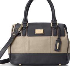 Tignanello Satchel Social Status Handbag  Bronze and Black Leather NWT $149.00 #Tignanello #Satchel