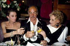 Audrey Hepburn with Sean Connery and Jeanne Moreau