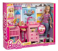 Look at this Barbie I Can Be Babysitter Doll & Play Set Barbie Doll Set, Baby Barbie, Doll Clothes Barbie, Barbie Doll House, Barbie Dream House, Barbie I, Dreamhouse Barbie, Accessoires Barbie, Barbie Playsets