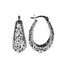 f9c55b432 LeCalla Sterling Silver Jewelry Filigree Hoop Earrings for Women #Hoop, # Earrings, #
