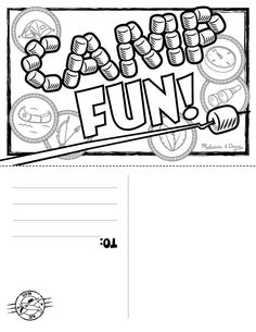 Postcard printable for little campers