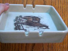 Vintage Otagiri Horse Ashtray 1980 Era by LeftoverStuff on Etsy
