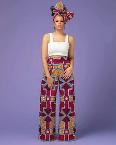 The Hamisi Pants is a must have! Its sexy design is perfect for showing off your curves, and will make you feel incredible every time you wear it. African Beauty, African Fashion, Grass Field, Afro Punk, African Dress, Modest Fashion, Wide Leg Pants, My Wardrobe, The Incredibles