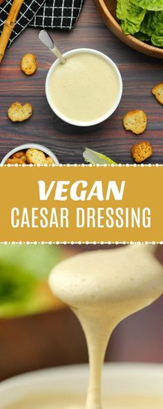 Creamy vegan caesar dressing that is ready in 5 minutes! Super simple, cheesy, garlicky and perfect as a dressing or dip.Gluten-Free | lovingitvegan.com