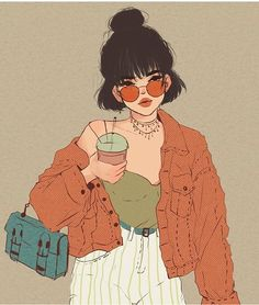 Pretty af cartoon girls in 2019 art, illustration art, aesthetic art. Cartoon Kunst, Cartoon Art, Kunst Inspo, Art Inspo, Art Drawings Sketches, Cute Drawings, Art And Illustration, Pretty Art, Cute Art