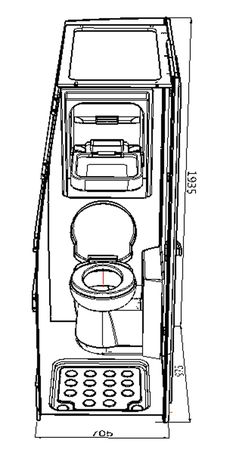 Shower Toilet Cubicle A   EVO Design Tall Fridge, Big Van, Toilet Cubicle, Vw Crafter, Sink Units, Solid Doors, Roof Panels, Roof Light, Tambour