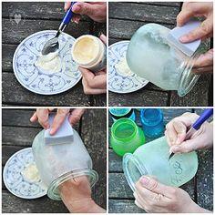 """Von Bärbel Born  Heute zeige ich euch mal etwas ganz anderes: Ein Deko-Windlicht. Und weil ich Kerzen und Feen mag, habe ich es in Abwandlung von Tee-Licht kurzerhand """"Fee-Licht"""" getauft.Glas mit Glasfarbe zu verschönern ist ja nun ein alter Hut. Aber habt ihr schon einmal versucht, ein solches Glas ganz individuell zu gestalten? In…"""