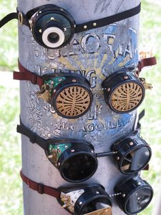 steampunk googles photo by ridingpretty Perfect for the jeep! My hair won't poke my eyes out!
