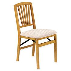 Stakmore Slat Back Wood Folding Chairs in Oak Finish, Set of 2