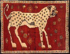 Animal-motif Persian rug