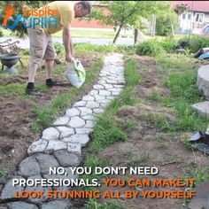 Garden Path Maker Mold 😍 Garden Path Maker Mold is a paving mold used to make a cement (or red mud) garden path. It consists of irregular holes, which can fill the cement slurry in the mold, and then smooth the upper part by hand. When dry, take out Garden Yard Ideas, Backyard Projects, Outdoor Projects, Backyard Patio, Garden Projects, Garden Art, Cement Garden, Diy Patio, Patio Steps
