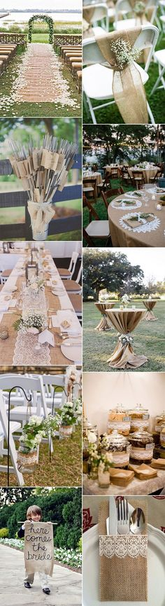 chic rustic lace and burlap wedding ideas