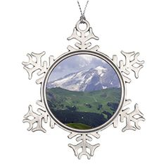 Tree Branch Decoration Green landscape rocky mountain Santa Decorations ** See this great product.