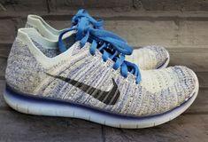 Nike Free RN Flyknit Womens Blue Run Running Sneakers Shoes Size 7.5  Nike   RunningShoes 6cb48c1e530