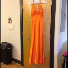 Orange Faviana Couture Prom Dress