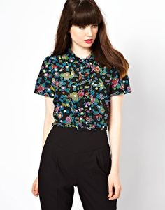 Boutique By Jaeger Blouse In Digital Tapestry Print