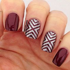 X-pattern Stencils for Nails, Nail Stickers, Nail Art, Nail Vinyls - Medium (16 Stencils) : Beauty