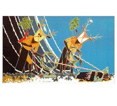 Paul Goble print: Elk Men Give the Flute