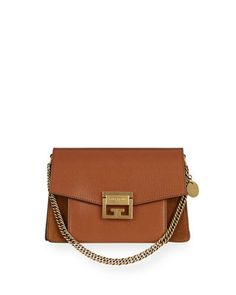 Givenchy GV3 Small Pebbled Leather Crossbody Bag Brown Suede 4aebfd48e275f
