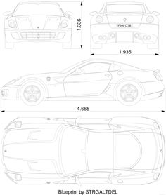 Ferrari 599 GTB Fiorano blueprints, vector drawings, clipart and pdf templates Ferrari, Lamborghini, Ford Fusion Accessories, Fondant, Funny Slogans, Shabby Chic Bedrooms, Car Drawings, Kit Cars, Car Wrap