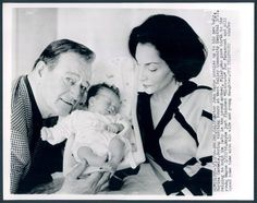 1966 Movie Star John Wayne Welcomes Baby Girl Marisa Carmela Wife Pilar