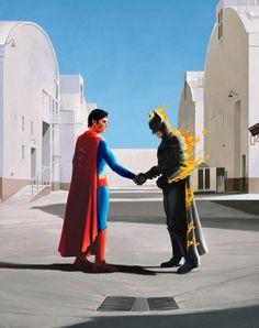 Wish You Were Here - Batman Superman DC Comics - Pink Floyd