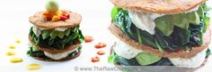 napoleon of spinach, avocado and sour creamed cashews