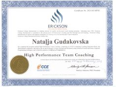 Certificate of Completion of High Performance Team Coaching Programme Team Coaching, Certificate Of Completion, Training Programs, Workout Programs