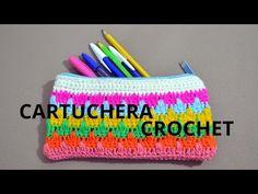 Cartuchera o Estuche en tejido crochet tutorial paso a paso. - YouTube