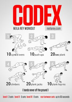 Codex Workout / works: triceps, biceps, shoulders, chest, glutes, lowers abs, core, lower back, abs #fitness #workout #workoutroutine