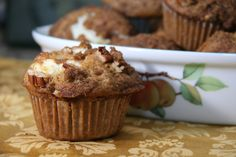 pumpkin cream cheese muffins--and try some cranberries in them!