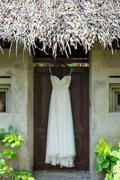Beautiful Wedding Dress of Caroline . Wedding at Hotel Tugu Lombok .